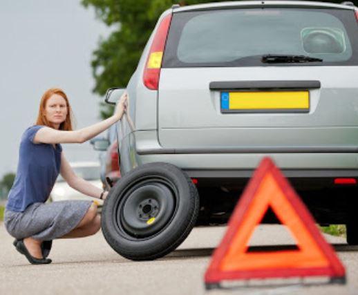 roadside assistance flat tire change